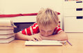 Little Boy Hates Doing Homework