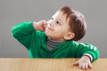 Little boy have an idea Royalty Free Stock Photo