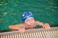 Little boy having fun at the swimming pool Royalty Free Stock Photo
