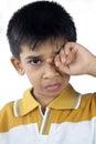Little boy het schreeuwen Stock Foto's