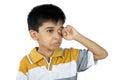 Little boy het schreeuwen Royalty-vrije Stock Afbeelding