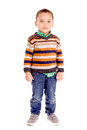 Little boy isolated in white Royalty Free Stock Photo