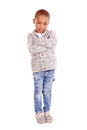 Little boy isolated in white Royalty Free Stock Images