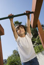 Little Boy On A Jungle Gym Royalty Free Stock Images