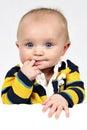 Little Boy Nahaufnahme genommen Stockfotos