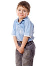 Little boy need a pee Royalty Free Stock Photography
