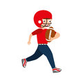Little boy playing american football