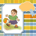 Little boy playing ball Royalty Free Stock Images