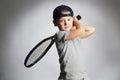 Little Boy Playing Tennis. Spo...