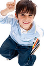 Little boy pointing up Stock Photography