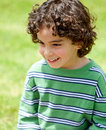 Little boy portrait outdoors Stock Photo