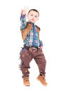 Little boy posing in cowboy costumes Royalty Free Stock Photo