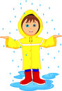 Little boy in raincoat