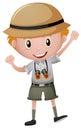 Little boy in safari costume