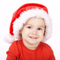 Little boy with santa hat cute Royalty Free Stock Image