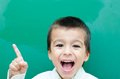 Little Boy Screaming Stock Images