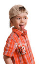 Little boy showing his tongue Royalty Free Stock Photo