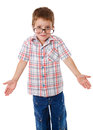 Little boy that shrugging aside Stock Photo