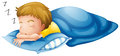 A little boy sleeping illustration of on white background Royalty Free Stock Image