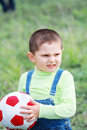 Little boy with soft ball Stock Image