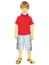 Little Boy Standing Vector Illustration Royalty Free Stock Image