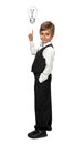 Little boy in a tuxedo isolate on white background Royalty Free Stock Photo
