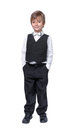 Little boy in a tuxedo isolate on white background Royalty Free Stock Image