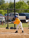 Little Boy Up to Bat Stock Images
