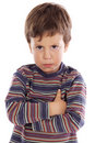 Little boy upset Royalty Free Stock Photo