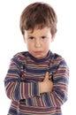 Little boy upset Royalty Free Stock Photo