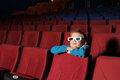 Little boy watching a movie Royalty Free Stock Photo