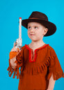 Little boy wearing a cowboy hat Royalty Free Stock Photography