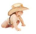 Little boy wearing cowboy hat Royalty Free Stock Photo