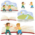 Little boys turn pages great book