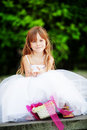 Little bridesmaid Stock Photo