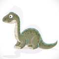 Little brontosaurus isolated on white background Stock Photo