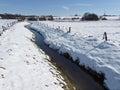 Little brook in winter germany georgsmarienhuette lower saxony Royalty Free Stock Photo