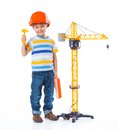 Little builder. Royalty Free Stock Photo