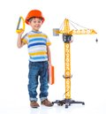 Little builder. Royalty Free Stock Photography