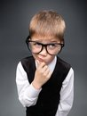 Little businessmen in spectacles Royalty Free Stock Photography