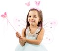 Little Butterfly Fairy Isolated On White Background Royalty Free Stock Photo