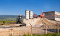 Little cement plant factory in a rural area Stock Image