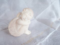 Little ceramic angel with wings Royalty Free Stock Photo