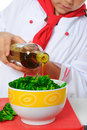 Little Chef in uniform. Stock Photo