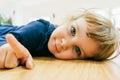 Little Child On The Floor