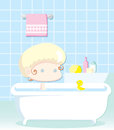 Little child having a bath Royalty Free Stock Photos