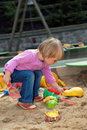 Little child playing on playground Stock Photography