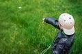 Little child throw away stone Royalty Free Stock Photo