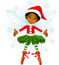 Little Christmas fairy Royalty Free Stock Photo