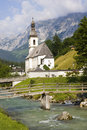Little church in the alps Royalty Free Stock Photo